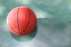 Stilllife old basketball through competition. stock image