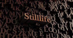 Stilllife - Wooden 3D rendered letters/message. Can be used for an online banner ad or a print postcard Stock Image