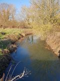 Stillness ενός ποταμού στοκ εικόνες με δικαίωμα ελεύθερης χρήσης