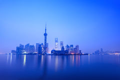 Stillness of dawn in shanghai Royalty Free Stock Photography