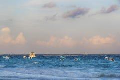 Stillsam karibisk strand Arkivbild