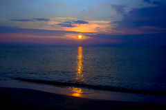 Stillsam kust av det varma havet Royaltyfri Fotografi