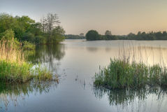 stillsam lake Arkivfoto