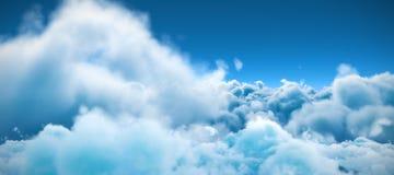 Stillsam plats av mulet mot himmel stock illustrationer