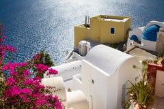 Stillsam plats på Oia Royaltyfri Fotografi