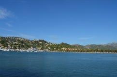 Stillsam port i Mediterranenen Arkivfoton