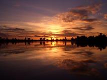stillsam solnedgång Arkivfoto