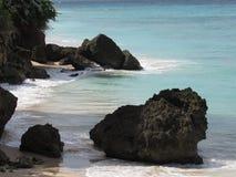 stillsam strandplats Arkivfoto