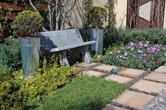 stillsam trädgårds- plats Arkivfoton