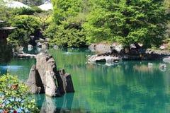 Stillsamma japanska trädgårdar Arkivbild