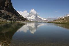 Stillsamma Matterhorn arkivbilder