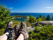 Wandern im Acadia-Nationalpark Stockfotos