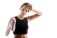 Stillstehen nach Yogapraxis Stockfoto