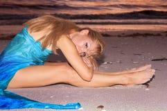 Stillstehen am Strand Stockbilder