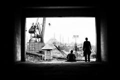 Stillstehende Arbeitskräfte Stockfoto