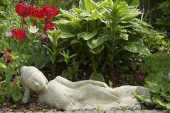 Stillstehender Buddha Stockfoto