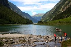 stilluptal的湖 免版税图库摄影