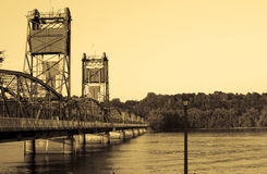 Stillwater Bridge. The old time bridge in stillwater Minnesota Royalty Free Stock Image