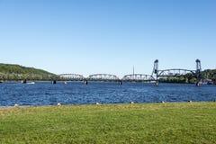 Stillwater-Hubbrücke, Mangan Lizenzfreies Stockfoto