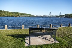 Stillwater lift bridge, MN Royalty Free Stock Photo