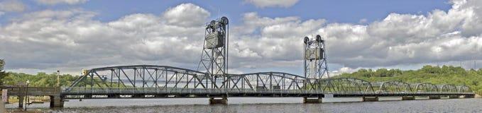 Stillwater Lift Bridge. A panoramic shot of the Stillwater lift bridge Royalty Free Stock Image
