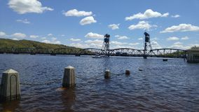 Stillwater lift bridge in Stillwater, Minnesota Stock Photo