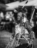 Stillwater Pow Wow Native American. Participant dancing Native American style at the Stillwater Pow Wow in Anderson, California royalty free stock images