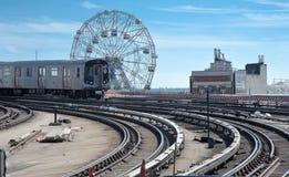 Stillwell alei stacja metru w Coney Island obraz stock