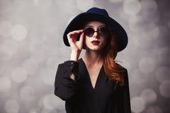Stilrödhårig mankvinnor Royaltyfri Fotografi