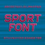 Stilsort för sportalfabetvektor vektor illustrationer