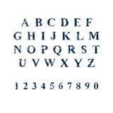 Stilsort för svamptryckgrunge, typografivektor Arkivbilder