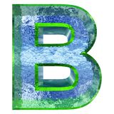 stilsort för vatten som 3D eller isisoleras på vit bakgrund royaltyfri illustrationer