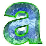 stilsort för vatten som 3D eller isisoleras på vit bakgrund stock illustrationer