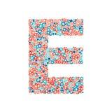 Stilsort för vektorUSA för nationell ferie och beröm, bokstav E vektor illustrationer