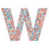 Stilsort för vektorUSA för nationell ferie och beröm, bokstav W stock illustrationer