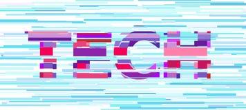 Stilsort f?r Techbokstavstekniskt fel Distorsion f?r Digitala data stock illustrationer