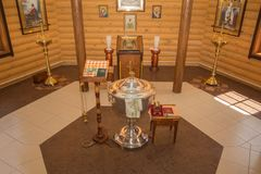 Stilsort i kapellet och andra attribut av kyrkan royaltyfria foton