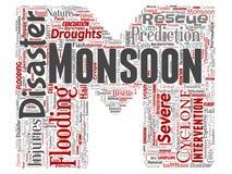 Stilsort M för bokstav för väder för vektormonsun farlig vektor illustrationer