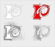 Stilsort P Arkivfoton