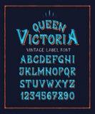 STILSORTSDROTTNING VICTORIA royaltyfri illustrationer