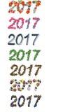 Stilsortsnummer 2017 för nytt år arkivfoto