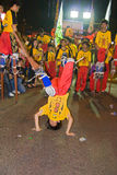 Stilt Acrobats, Chingay Parade, Johor Bahru, MY Stock Photography