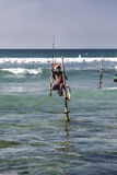 Stilt fisherman Stock Photo