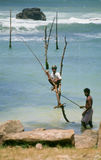 Stilt Fishermen Stock Photo