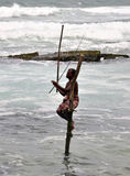Stilt fishermen Royalty Free Stock Photos