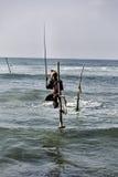 Stilt fishermen Royalty Free Stock Photography