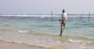 Stilt Fishermen of Sri Lanka Royalty Free Stock Photo