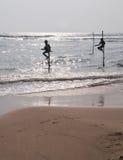 Stilt Fishermen of Sri Lanka Royalty Free Stock Photos