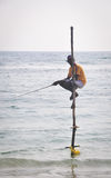 Stilt Fishermen of Sri Lanka Stock Photography