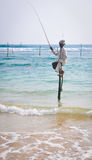 Stilt Fishermen of Sri Lanka Royalty Free Stock Photos